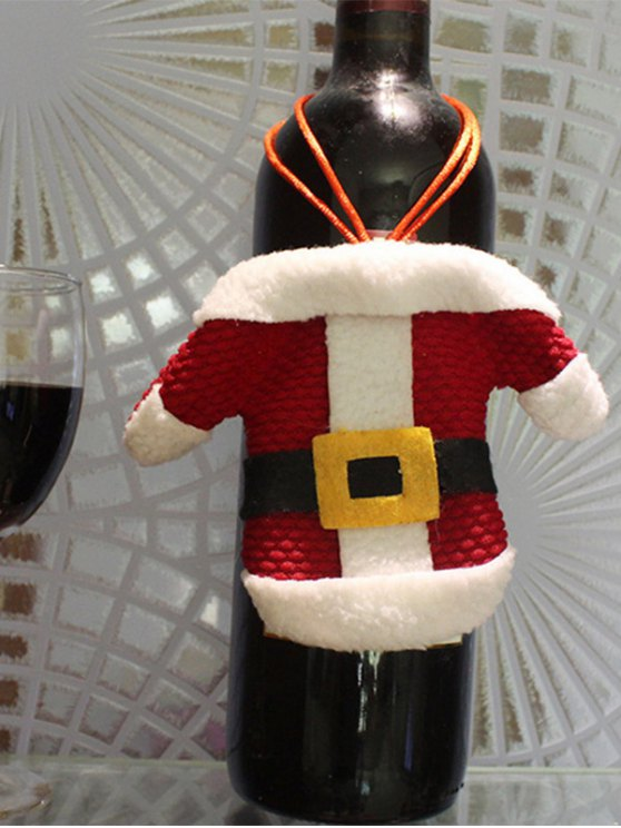 Christmas Santa Clothes Shape Tableware Holder Bag -   Mobile