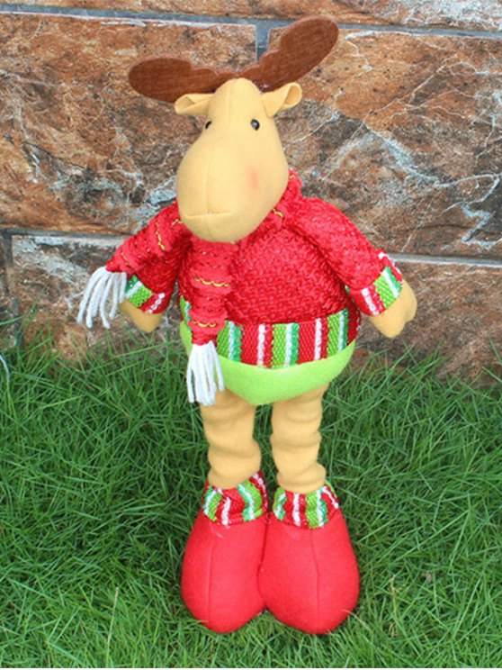 Christmas Party Decorative Stretched Deer Puppet Toy -   Mobile