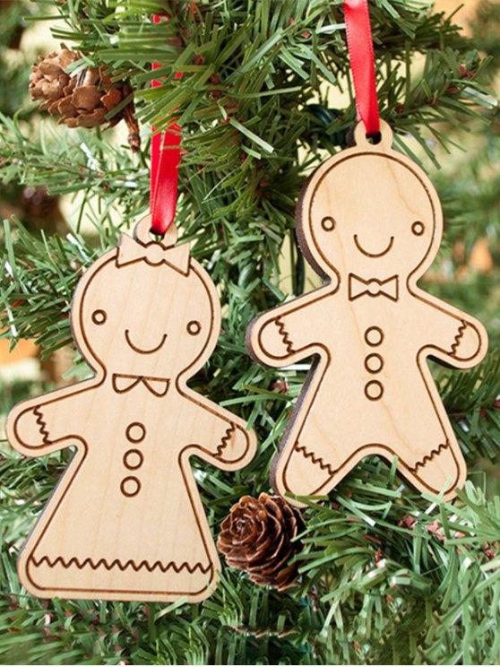 Christmas Tree Cookie Wooden Pendants Decoration -   Mobile
