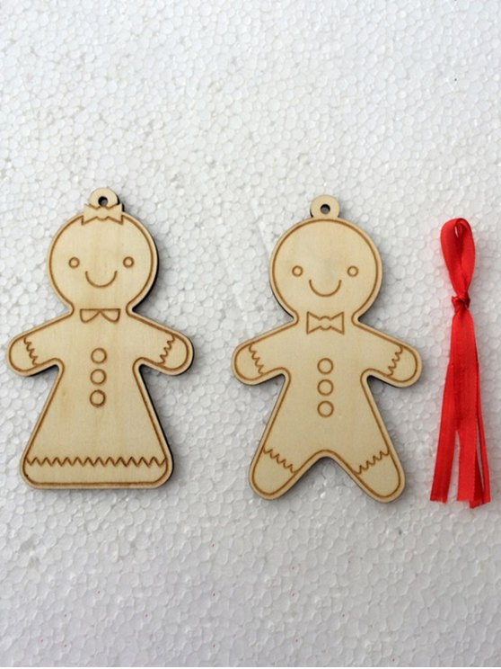 Christmas Tree Cookie Wooden Pendants Decoration -   Mobile