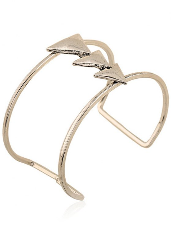 Triangle Two Layered Cuff Bracelet - SILVER  Mobile