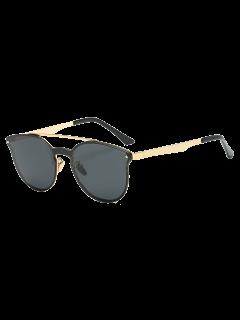 Rhombus Pattern Butterfly Sunglasses - Black