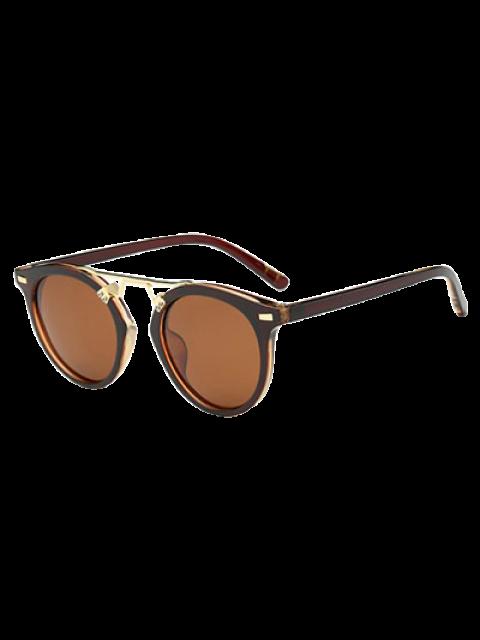 women's Dam Nose Bridge Oval Sunglasses - TEA-COLORED  Mobile