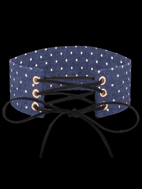 sale Adjustable Bowknot Denim Choker Necklace - #05  Mobile