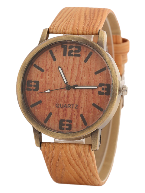 outfit Wooden Pattern Watch - ORANGE  Mobile