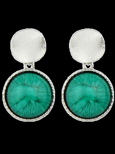 women's Circle Faux Gem Sequin Earrings - SILVER  Mobile