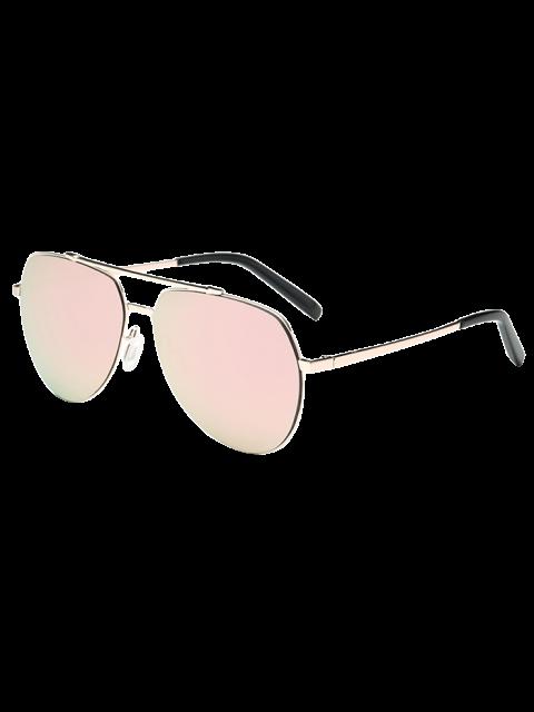 shops Lightweight Mirrored Pilot Sunglasses - LIGHT PINK  Mobile