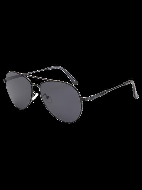 affordable Metal Crossbar Pilot Sunglasses - BLACK  Mobile