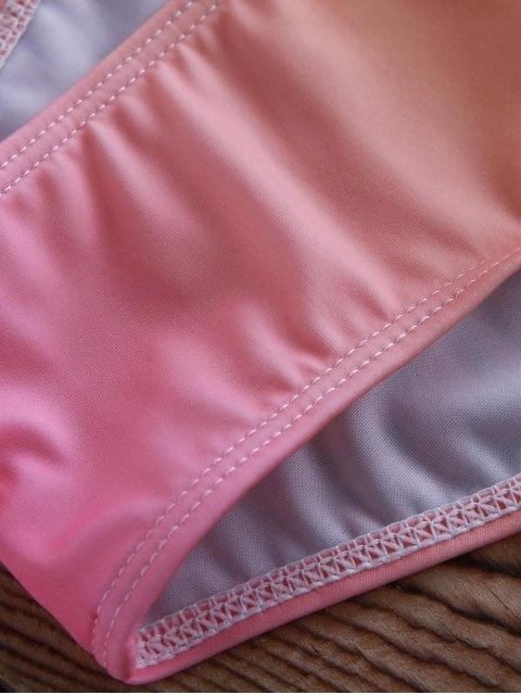 trendy Alluring Ombre Halter Bikini Set - COLORMIX M Mobile