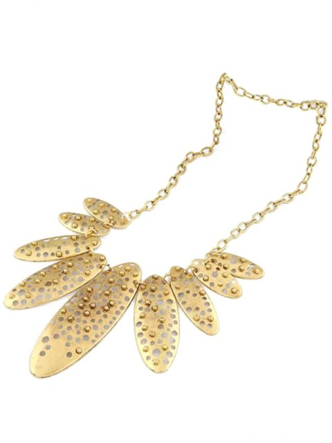 lady Hollow Out Ellipse Shape Retro Style Necklace -   Mobile