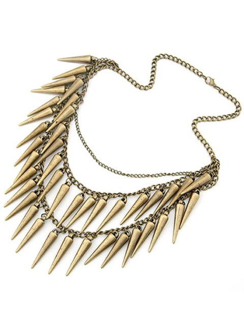 trendy Rivet Pendant Three Layered Alloy Necklace - COPPER COLOR  Mobile