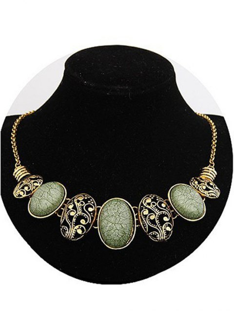 shop Tribal Style Faux Gem Statement Necklace -   Mobile