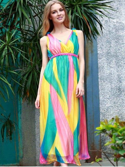 shop Sleeveless Multi-Colored Sundress - COLORMIX L Mobile