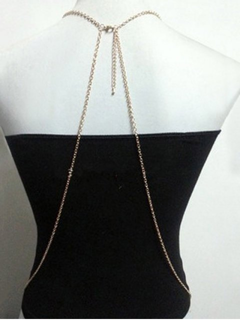 sale Simple Style X Shape Body Chain - GOLDEN  Mobile