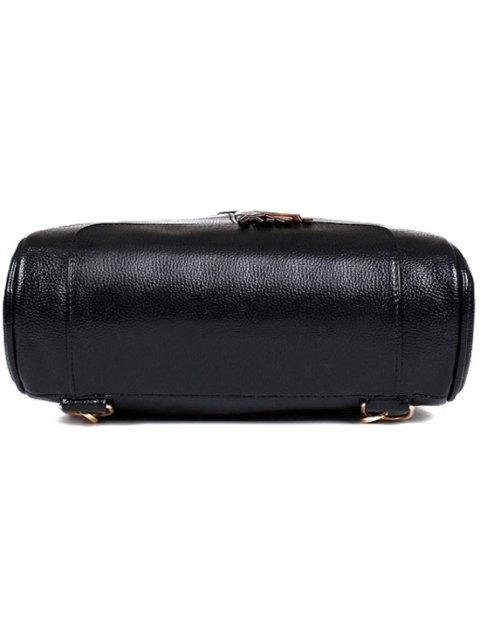 affordable Tassel Solid Color PU Leather Satchel - RED  Mobile
