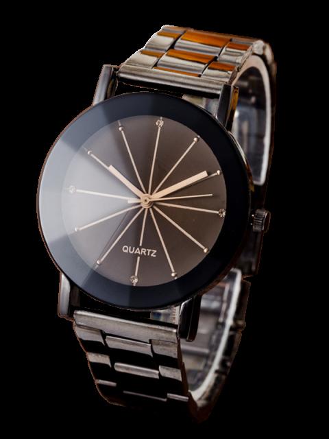trendy Conical Surface Quartz Watch - GUN METAL  Mobile