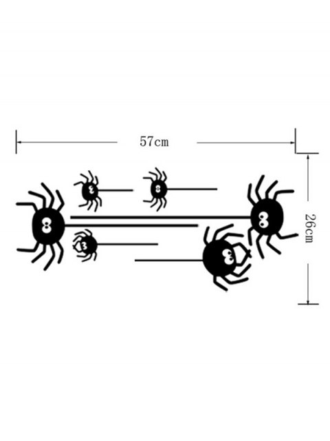 shops Irregular Spider Design Halloween Vinyl Wall Stickers Custom - BLACK  Mobile