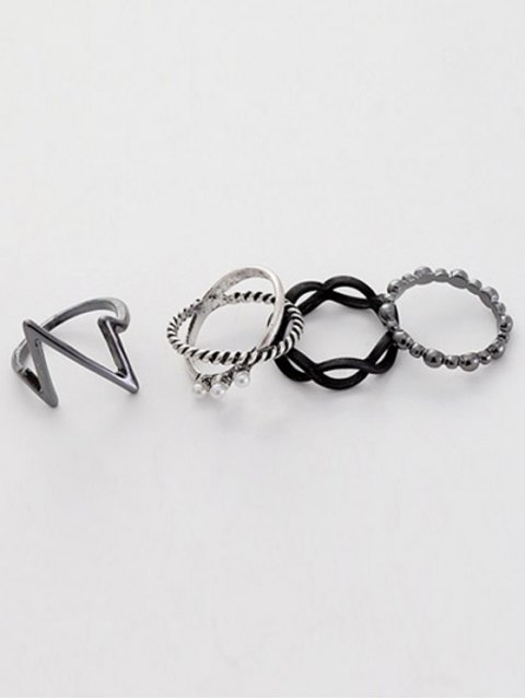 shops A Suit of Lighting Alloy Rings - SILVER ONE-SIZE Mobile