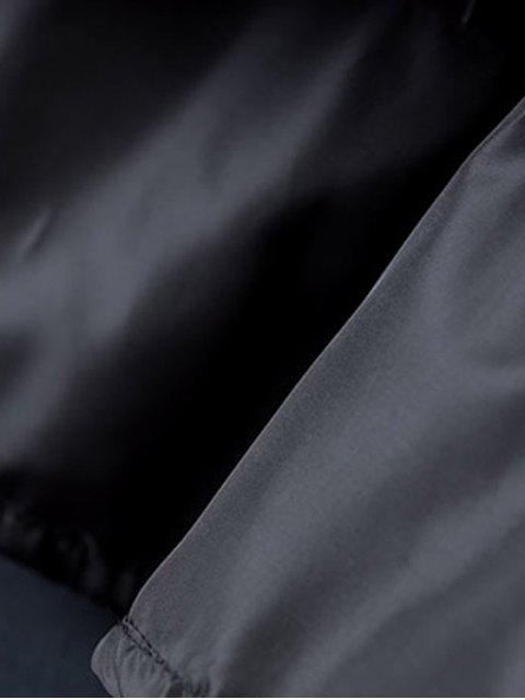 women PU Leather High Waisted Tassels Spliced Skirt - BLACK L Mobile