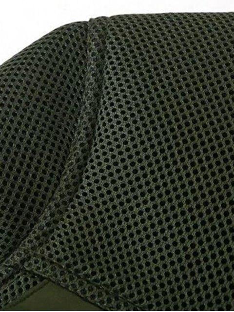 hot Big Pocket Mesh Design Pilot Jacket - BLACK L Mobile