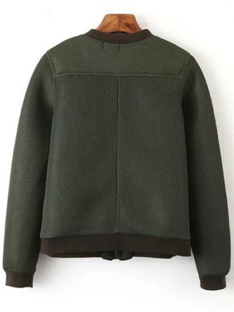 best Big Pocket Mesh Design Pilot Jacket - GREEN L Mobile