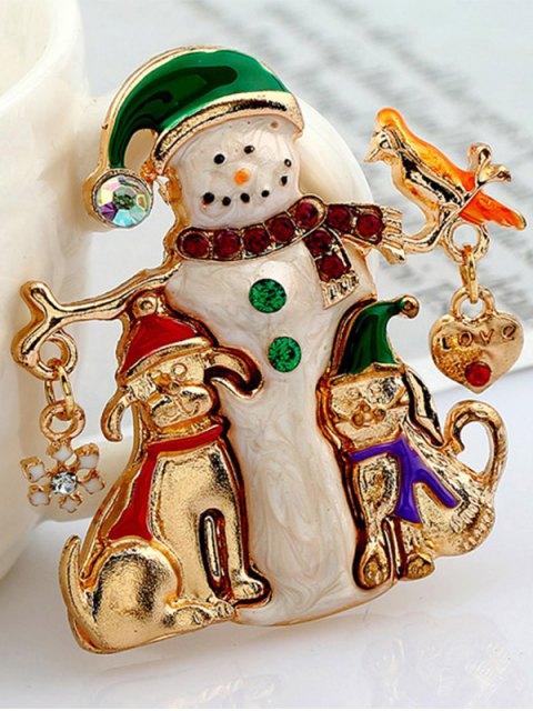 hot Christmas Snowman Resin Brooch -   Mobile
