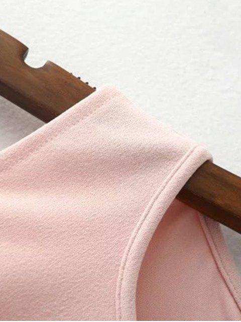 latest Jewel Neck Cold Shoulder Romper - BLACK S Mobile