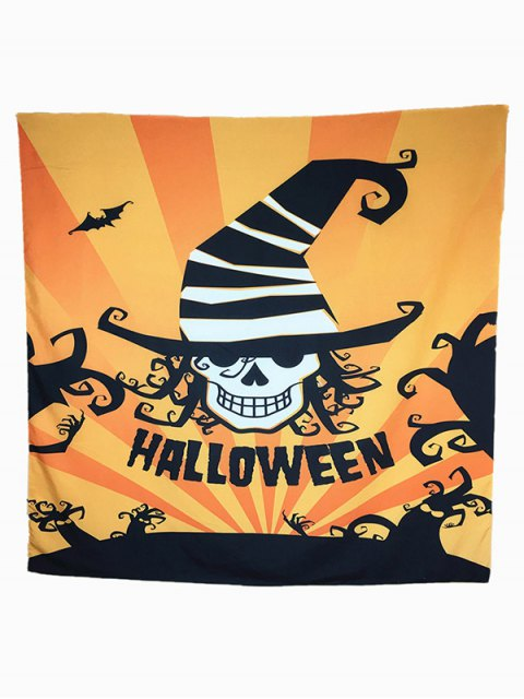 chic Halloween Carnival Skull Bat Pattern Big Square Scarf -   Mobile