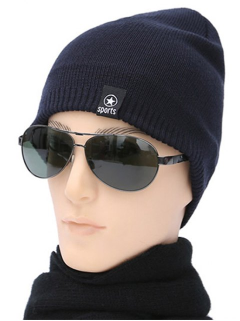 affordable Winter knit Ski Beanie - PURPLISH BLUE  Mobile