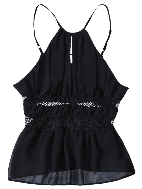 latest Mesh Panel Camisole - BLACK M Mobile