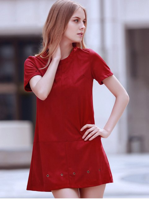 new Grommet Design Wine Red Dress - WINE RED M Mobile