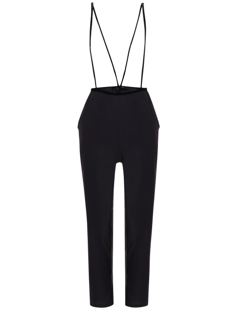 latest Black High Waisted Pencil Pants - BLACK M Mobile