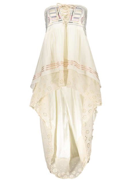 unique High-Low  Printed Asymmetric Skirt - OFF-WHITE L Mobile