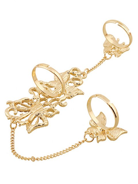 fancy Rhinestone Butterfly Rings - GOLDEN  Mobile