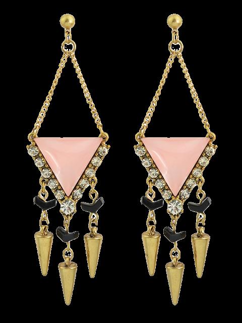 fancy Rhinestoned Geometric Chandelier Earrings -   Mobile