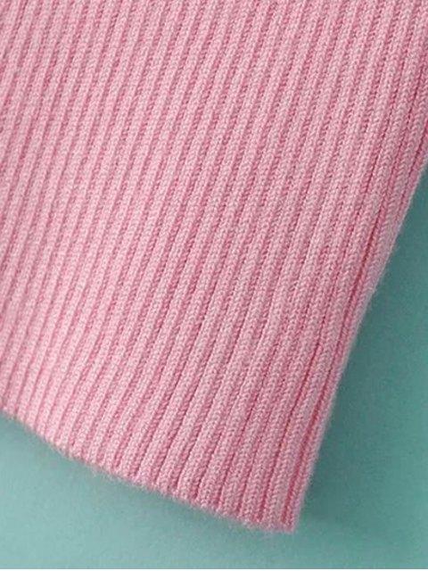 new Color Block V Neck Short Sleeve Cropped T-Shirt - BLACK M Mobile