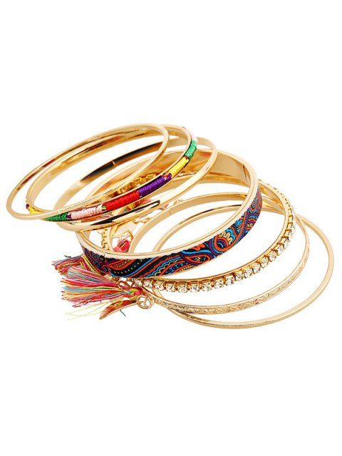 sale Rhinestone Tassel Ethnic Bracelets - GOLDEN  Mobile