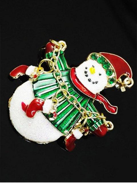 outfit Christmas Rhinestone Snowman Enamel Brooch -   Mobile