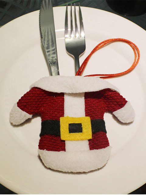 women's Christmas Santa Clothes Shape Tableware Holder Bag -   Mobile