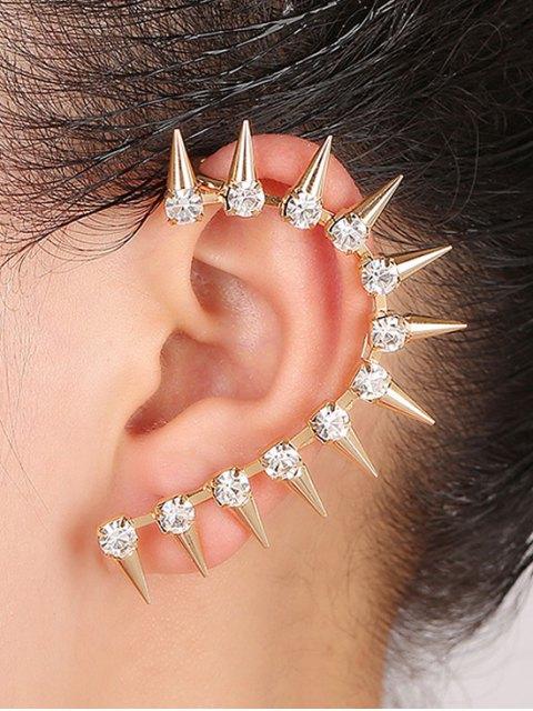 latest Rhinestones Sharp Teeth Clip Earring - GOLDEN  Mobile
