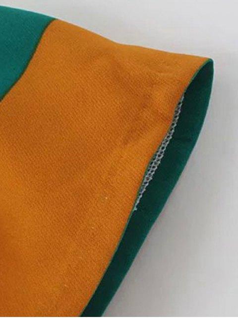 shop Striped Scoop Neck 3/4 Sleeve T-Shirt - COLORMIX S Mobile