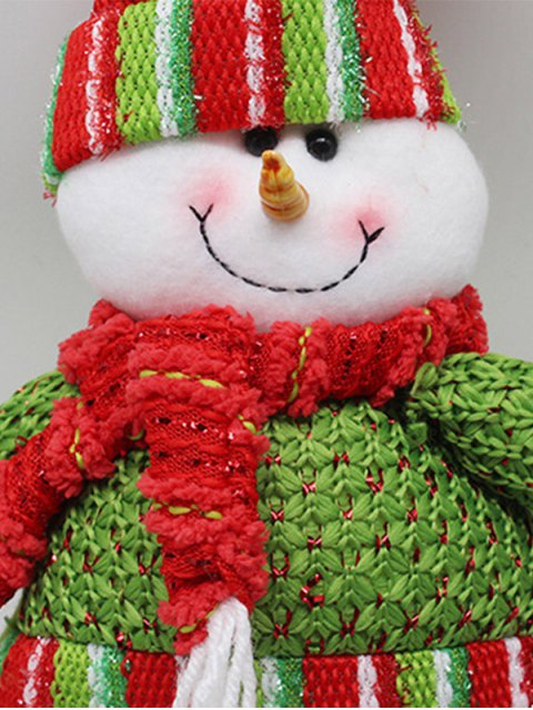 women Christmas Party Decorative Stretched Snowman Puppet Toy - RED AND GREEN  Mobile