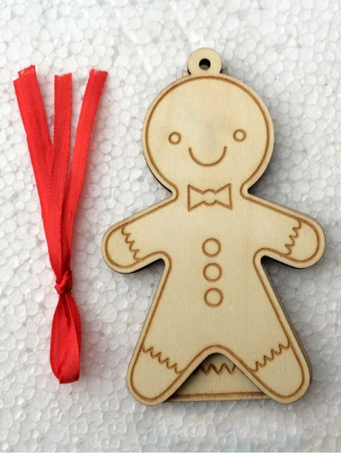 online Christmas Tree Cookie Wooden Pendants Decoration -   Mobile