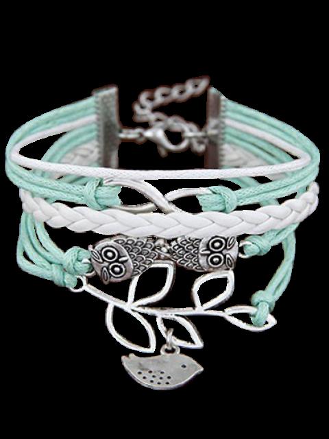 best Owl Birdie Infinity Braided Bracelet - COLORMIX  Mobile