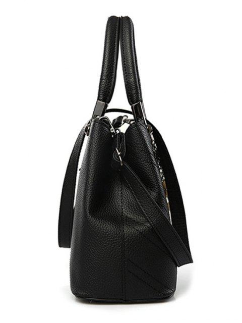 Pendentif Stitching PU cuir sac fourre-tout - ROSE PÂLE  Mobile