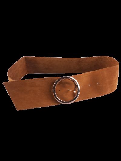 Hollow Ring Velvet Belt - CAMEL  Mobile