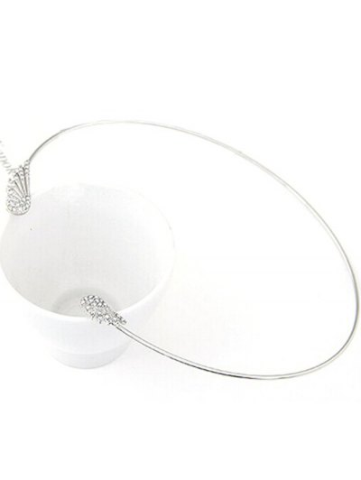 Rhinestone Angel Wings Chokers Necklace - SILVER  Mobile