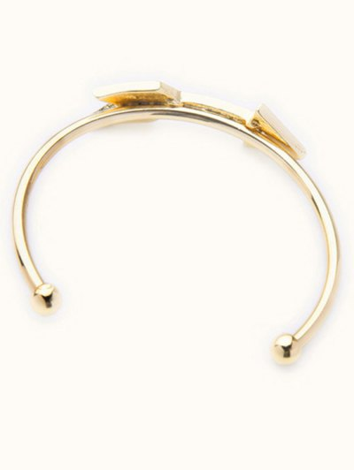 Arrow Rhinestone Cuff Bracelet - GOLDEN  Mobile