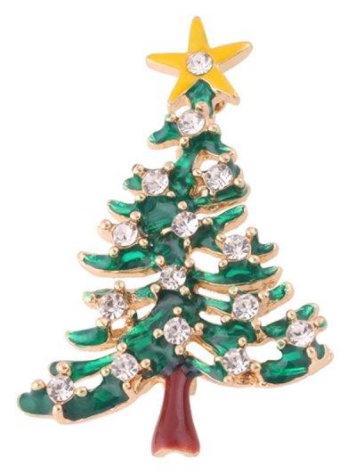 Christmas Trees Resin Brooch - Green
