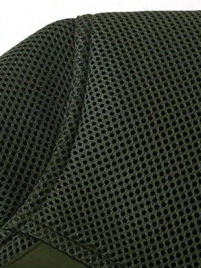 Big Pocket Mesh Design Pilot Jacket - BLACK M Mobile